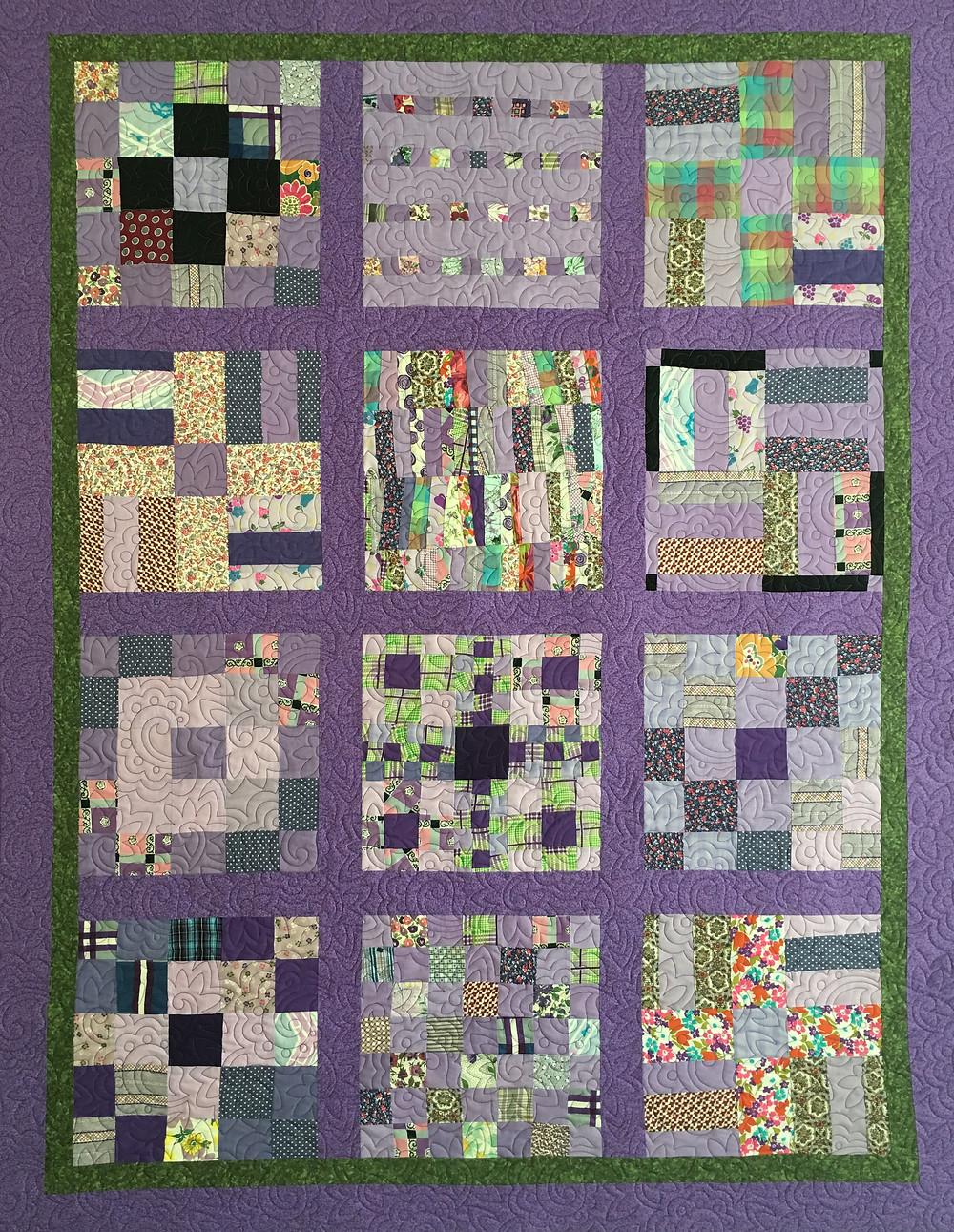 Sampler in Lavender Quilt by Valarie Sherriff