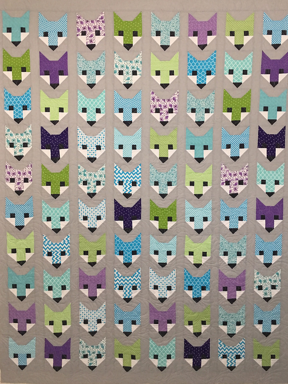 Fox Faces Quilt by Jocelyn Robinson