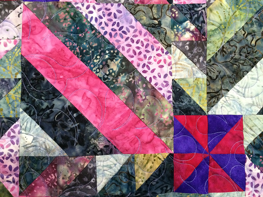 close up of Marilyn Willis Happy Birthday Quilt for Marci