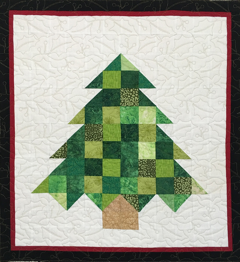 Christmas Tree Wall Hanging Quilt by Laura Wetzel