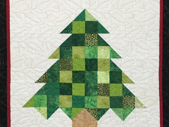 Laura Wetzel Christmas Tree Wall Hanging Quilt