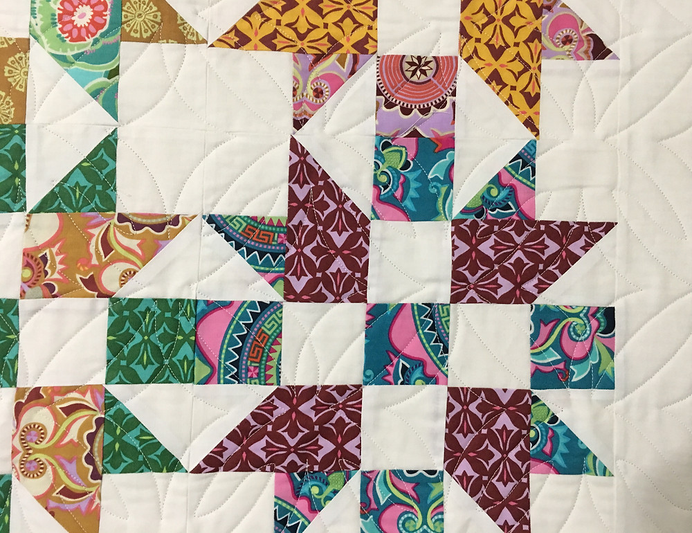 Geometric Quilting Pattern on Studio Stars by Mary Derryberry