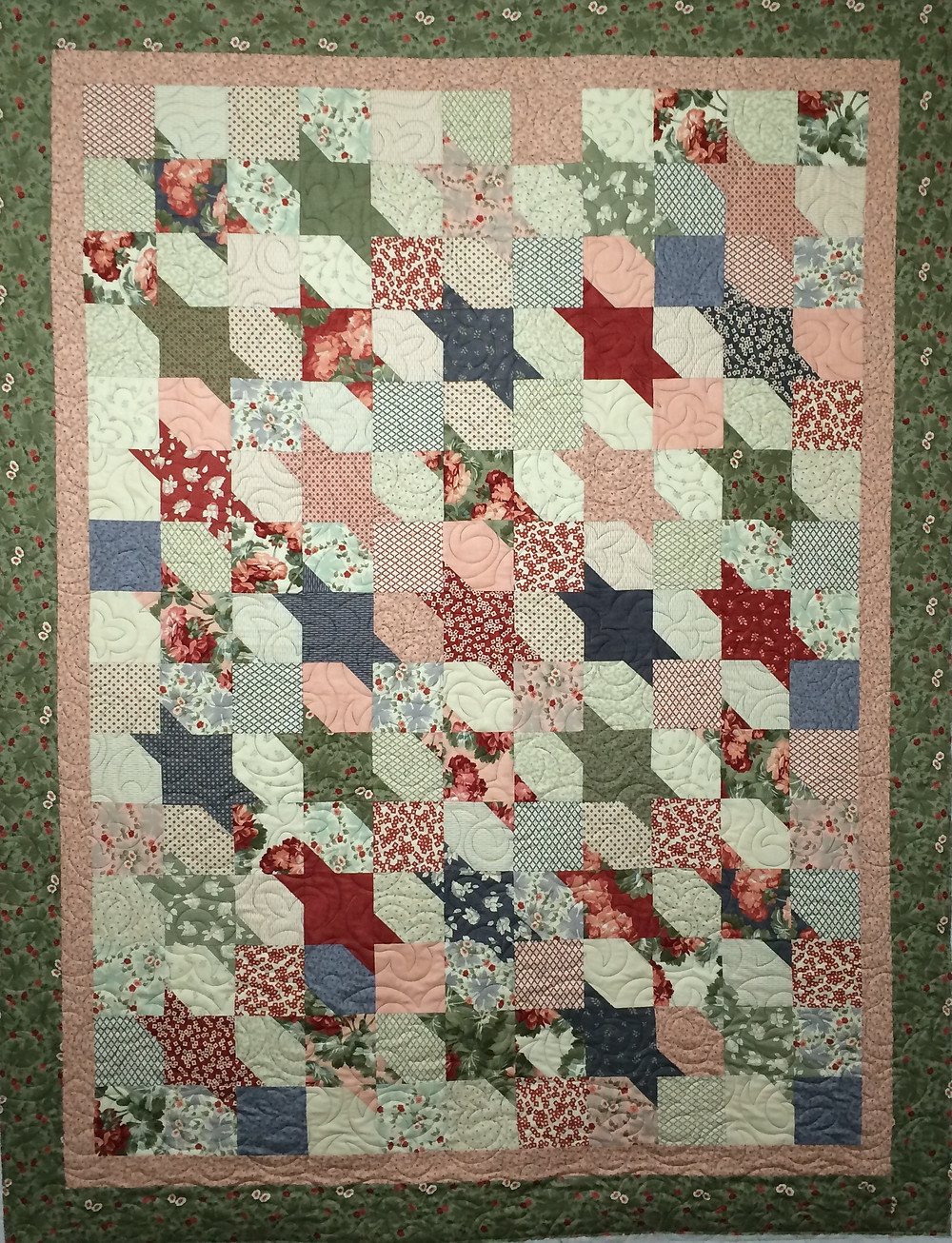 Squares and Triangles Quilt by Debbie Seitz