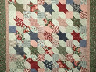 Debbie Seitz Squares and Triangles Quilt