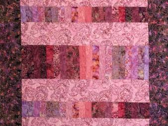 Stella Siwinski Pink Batik Quilt