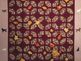 Jennifer Adams Dogs in Autumn Quilt