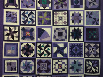Billie Murphy Sampler Blocks in Purple Quilt