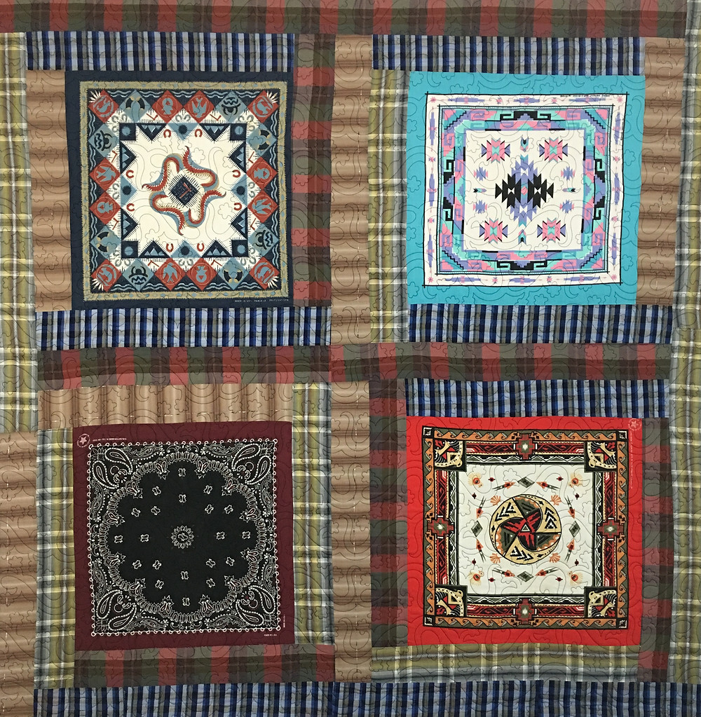 Bandanas Square Quilts by Laura Joy