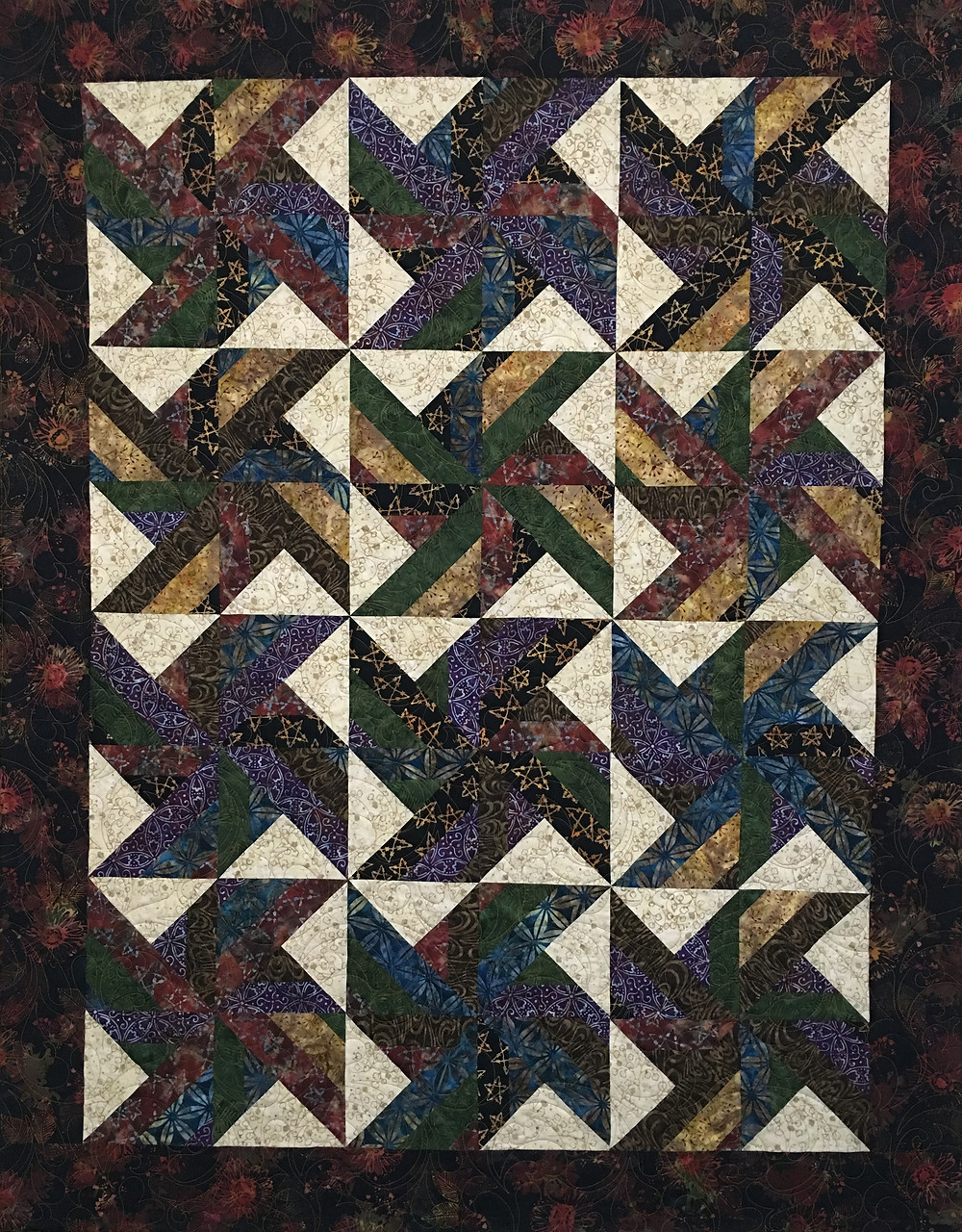 Batiks Blocks quilt by Terry Manley