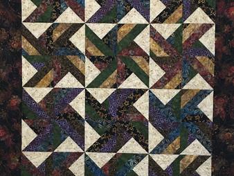 Terri Manley Batiks Block Quilt