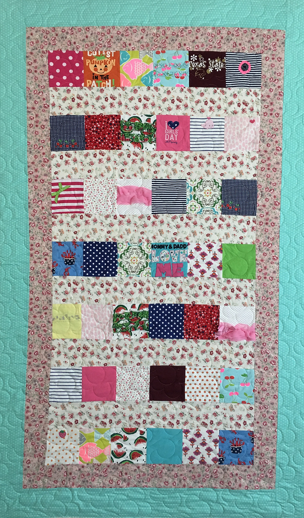 Scrappy Quilt for Girl by Lindsay Hall