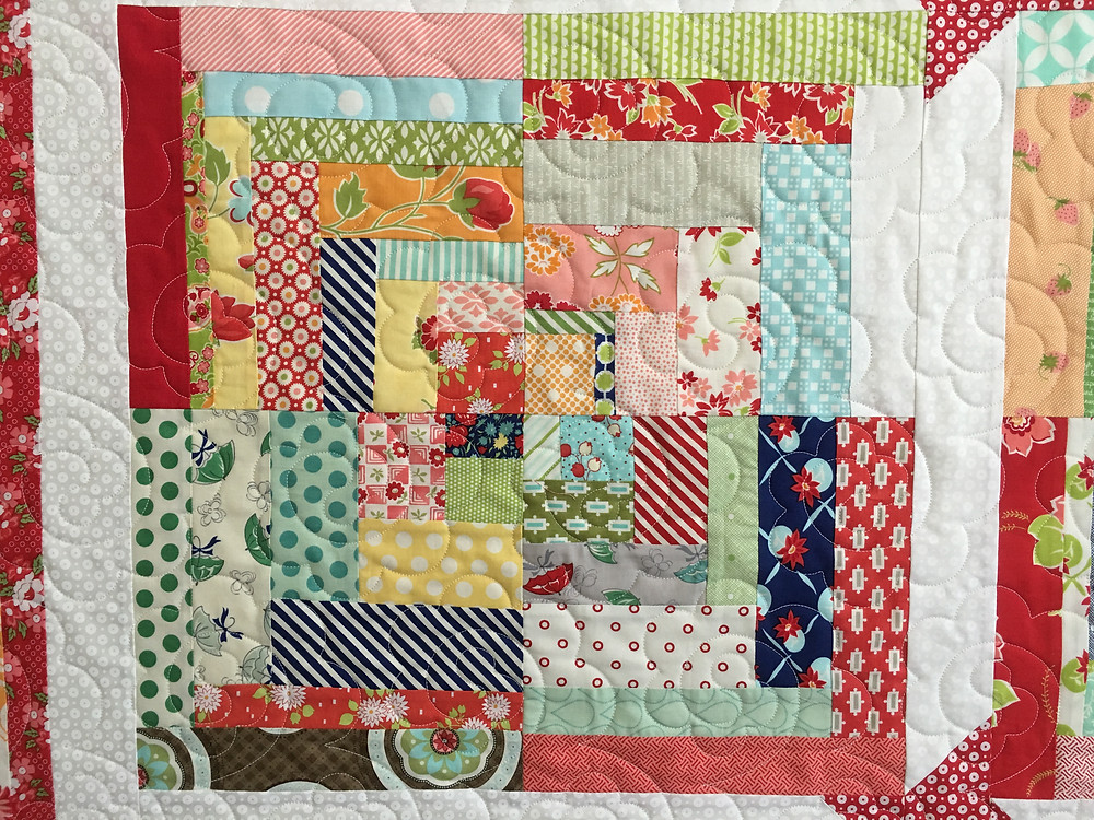 Scrappy block for the Christmas Quilt
