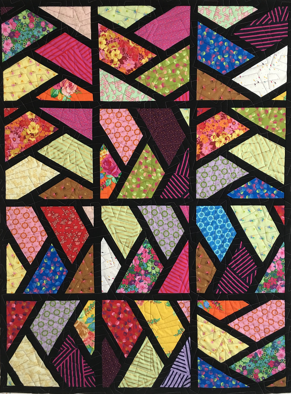 Sashed Half Hexi Quilt by Cindy Lovelace