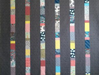 Delfina Geurra Vertical Stripes Quilt