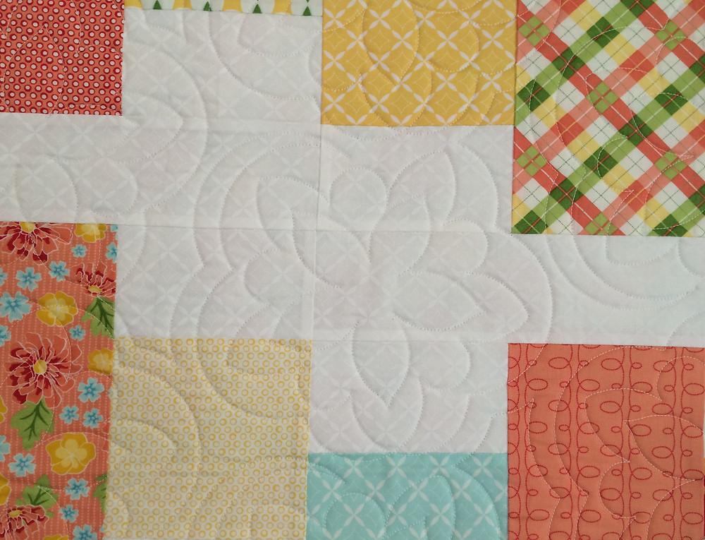 Another closeup of Sarah Price Summerfest Quilt