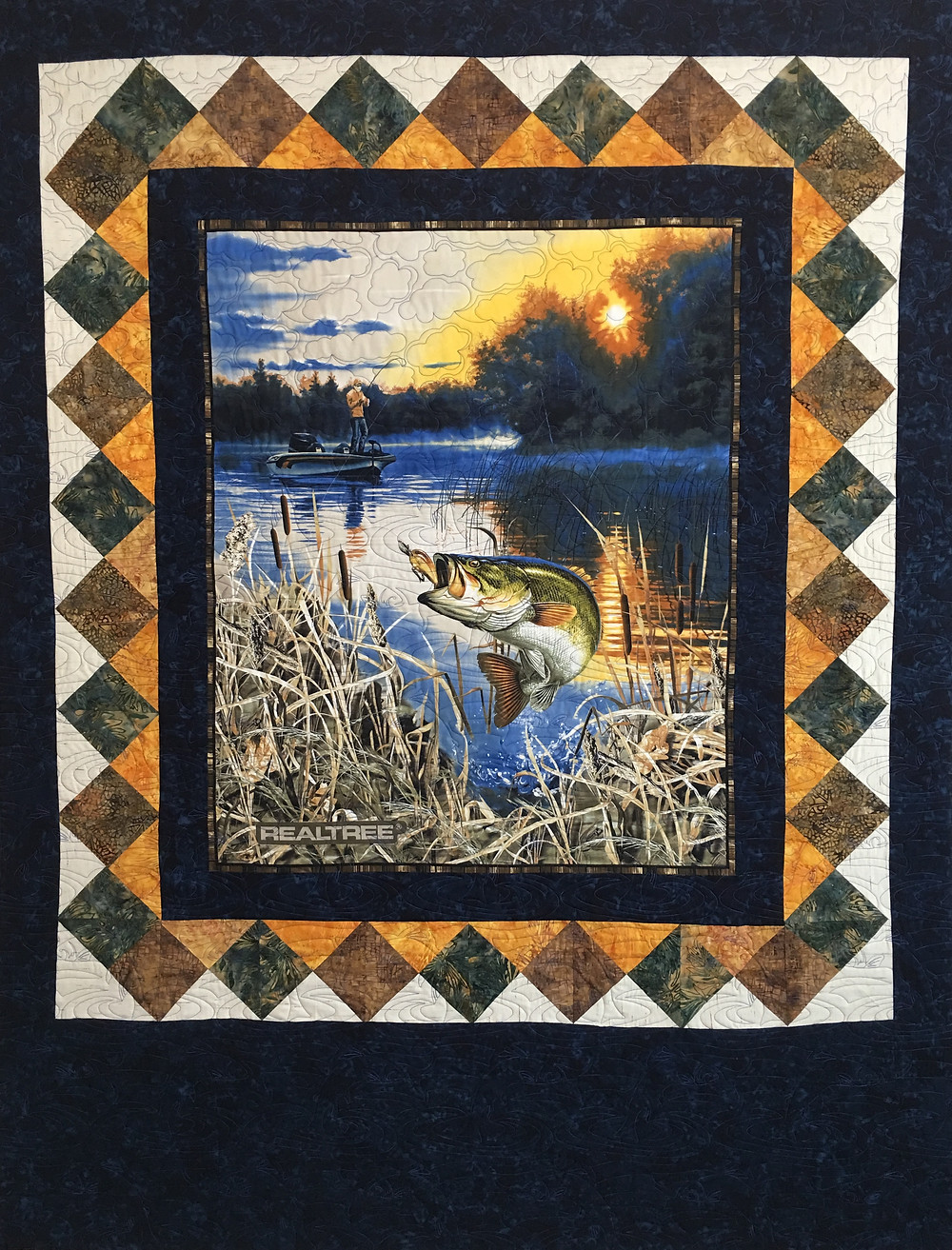Fishing Quilt for Son by France Godfrey