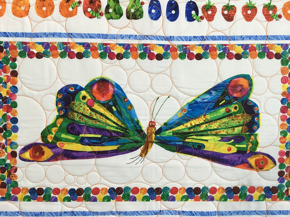 another closeup of Mr. Butterfly in Leanne's quilt
