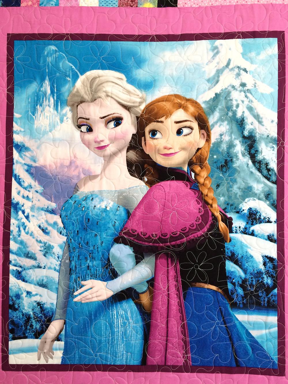 Another closeup of Kristi Jones Disney's Frozen Quilt