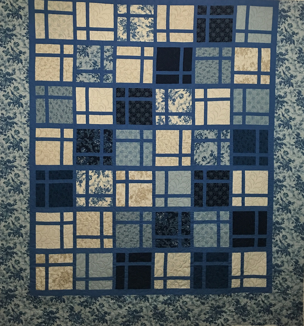 Peggy Cool Blue Layer Cake Quilt