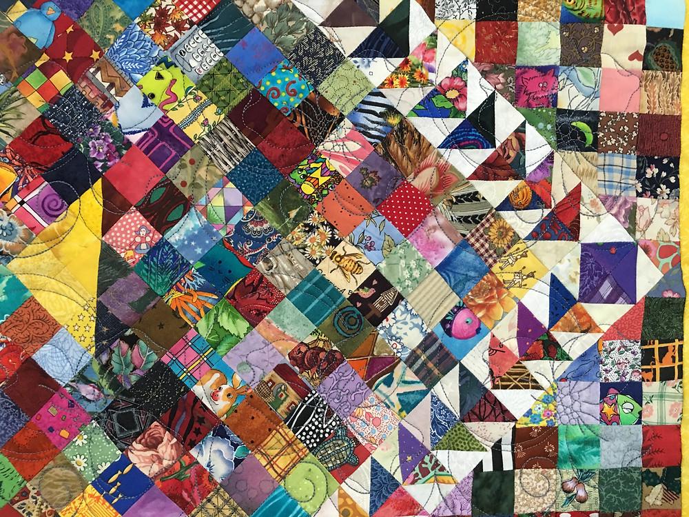 closeup of Lynne's Millennium Quilt by Sew Dear