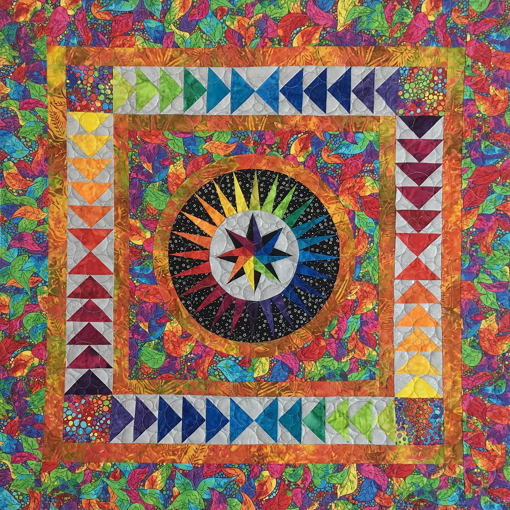 Happiness Quilt by Leanne Strum