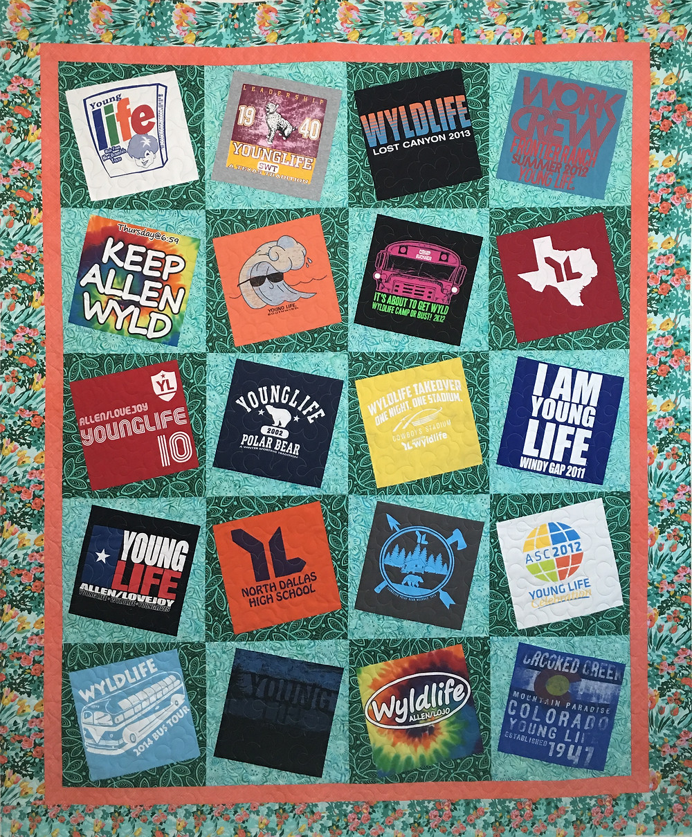 T Shirt Quilt by Audrey Barber