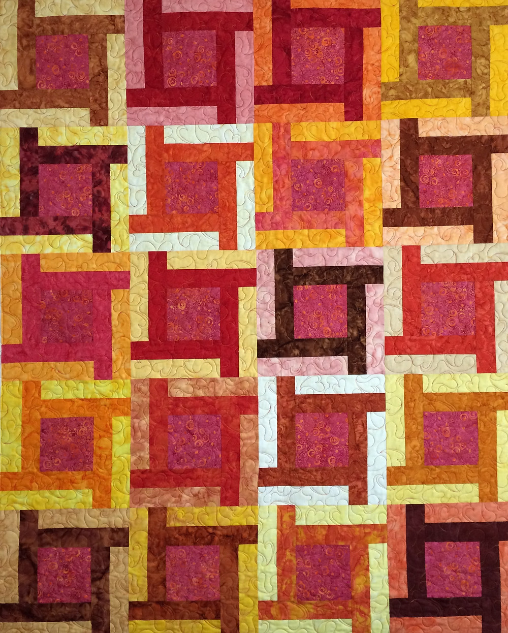 Lisa brilliant colors in Batiks Quilt