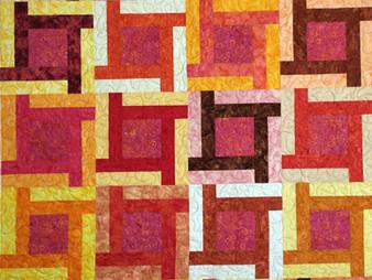 Lisa Fahlquist Brilliant Colors in Batiks Quilt