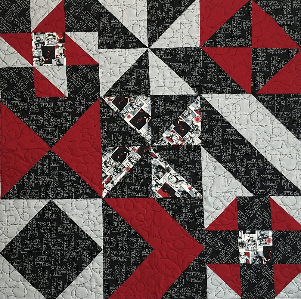 Star Wars Quilt by Nancy Nesbaum