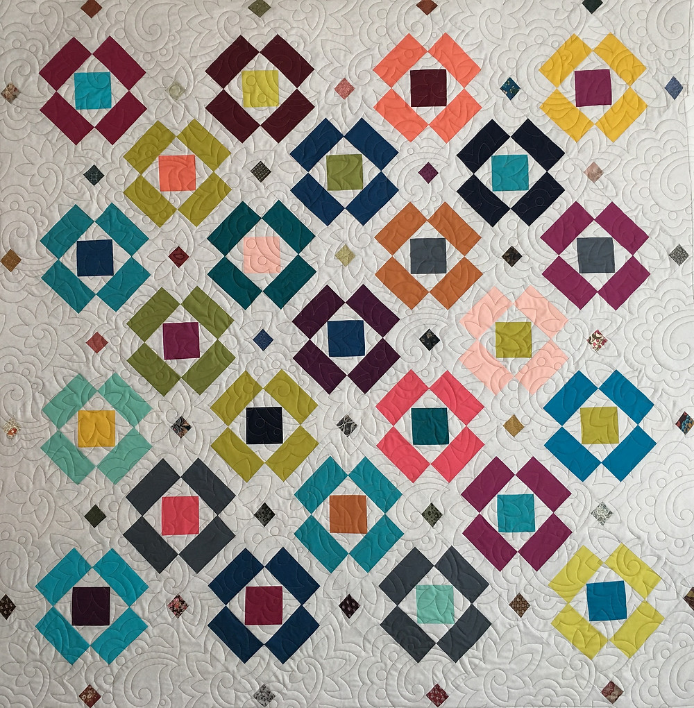Floating Blocks Quilt by Jill Seward