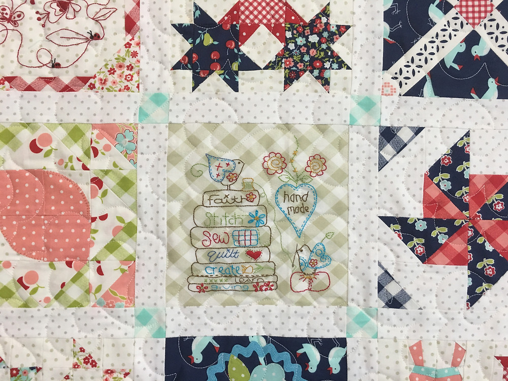 another closeup of Splendid Sampler by Deb Taylor