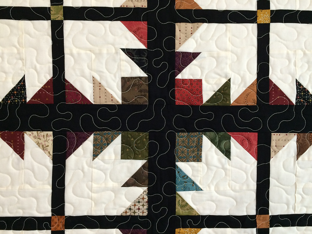 Closeup of Julianna Bolen Bear Paws Quilt