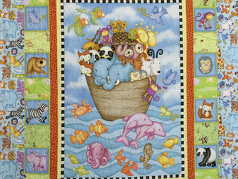 Sally Krebs Noah's Ark Baby Quilt