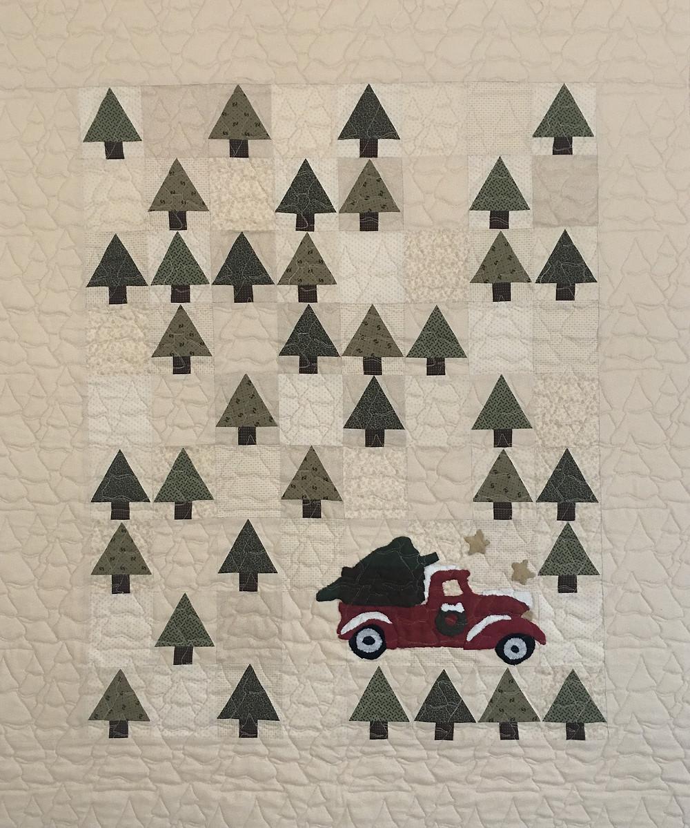 Vintage Tree Farm Quilt by Joan Salesman