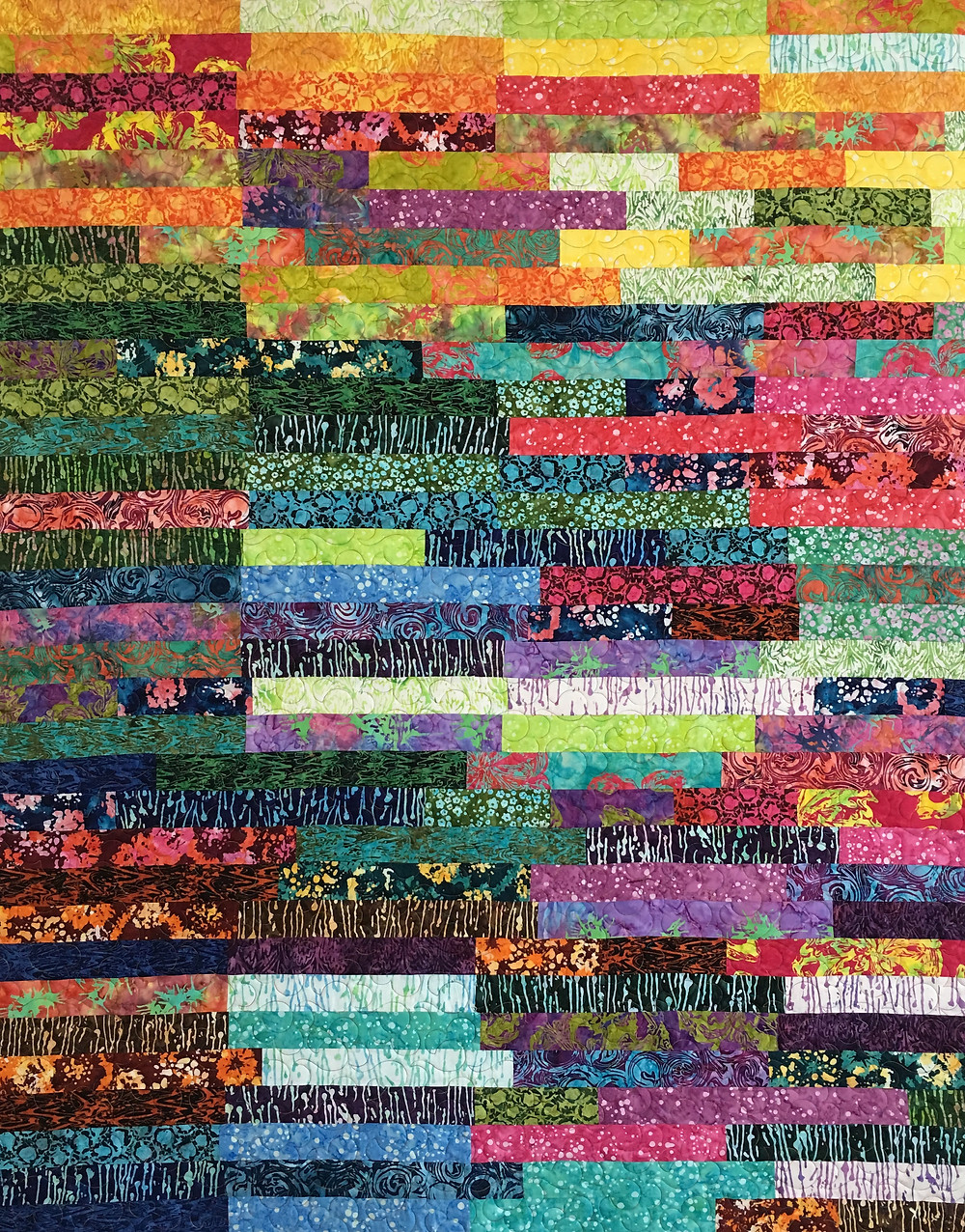 Jelly Roll Quilt by Myrt Gross