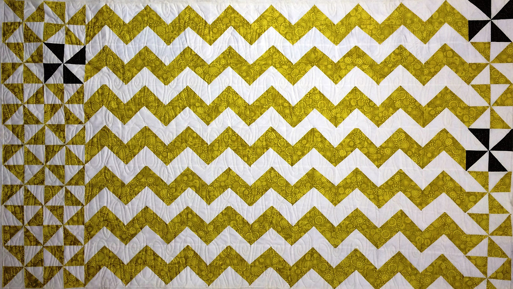 Chevrons and Pinwheels Quilt by Sue Lindsay