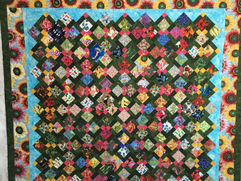Bridget Kauffman Disappearing 9 Patch Quilt