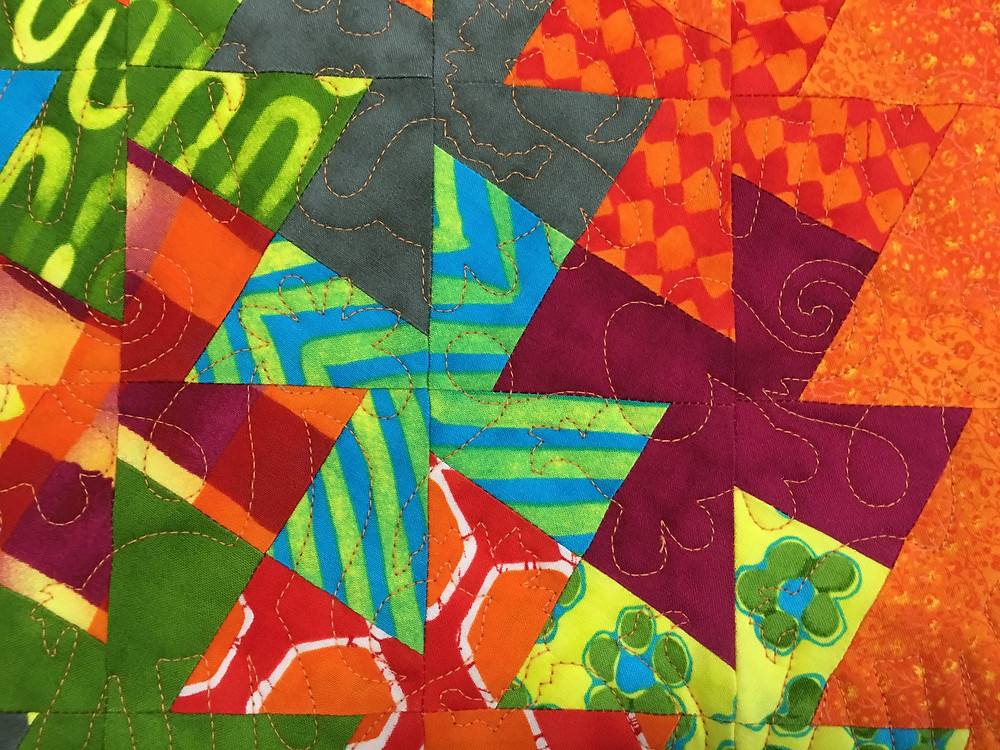 Animals Quilting Pattern on Twister Quilt by Chris Olsen
