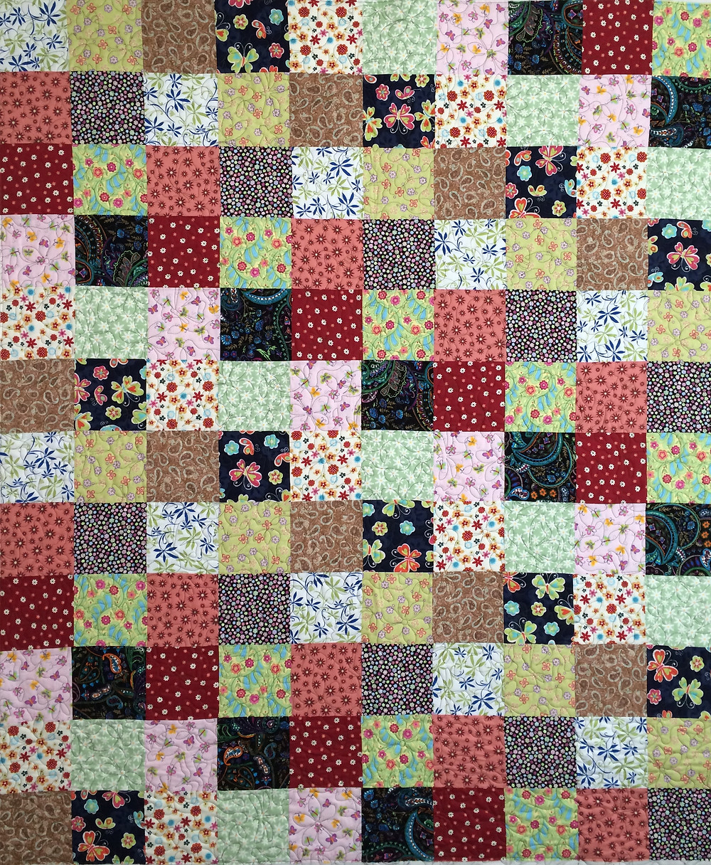 Toni Multi Color Squares Quilt