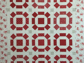 Cheryl Cohorn Red and Cream Quilt