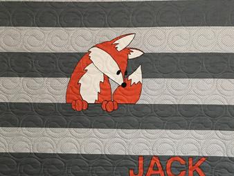 Chris Olsen Jack Fox Baby Quilt