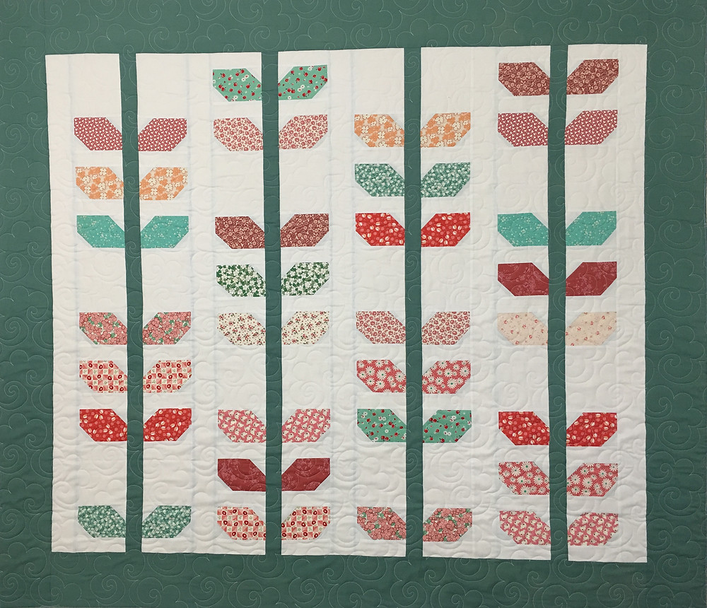 1930s Floral Crib Quilt by Elsa Murray