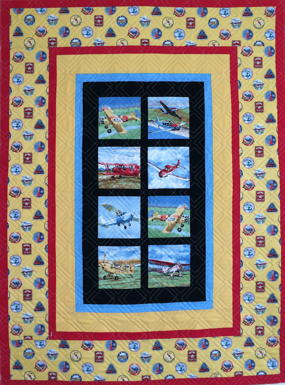 Leanne Airplanes Quilt