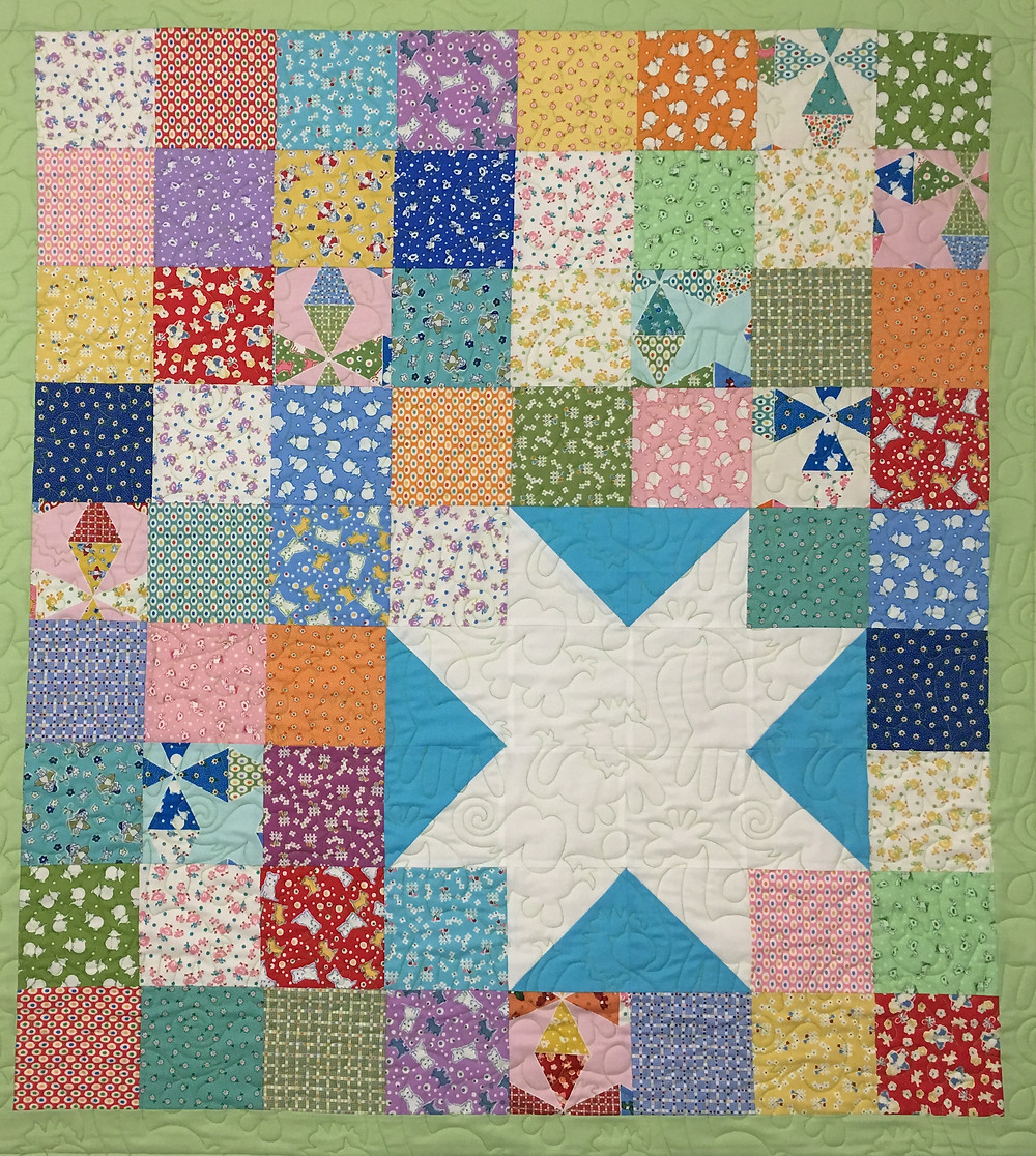 Lone Star Baby Quilt by Cindy Lovelace