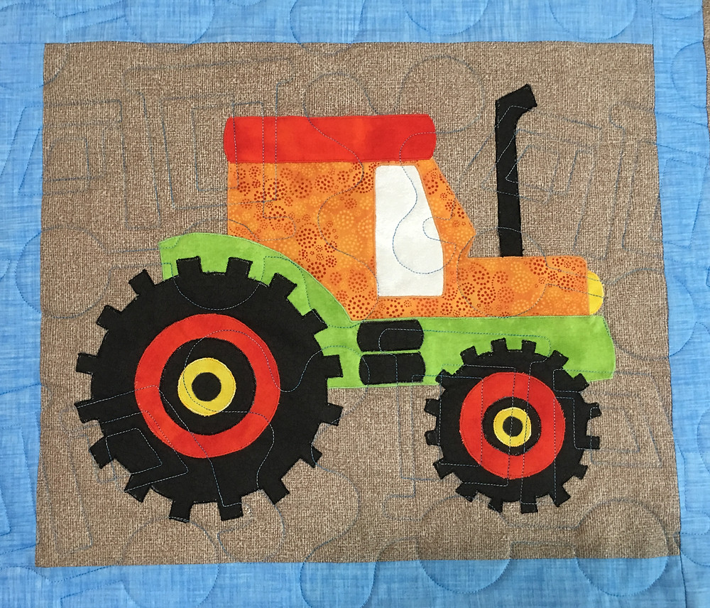 Tractor on I Love Dirt Quilt by Chris Olsen
