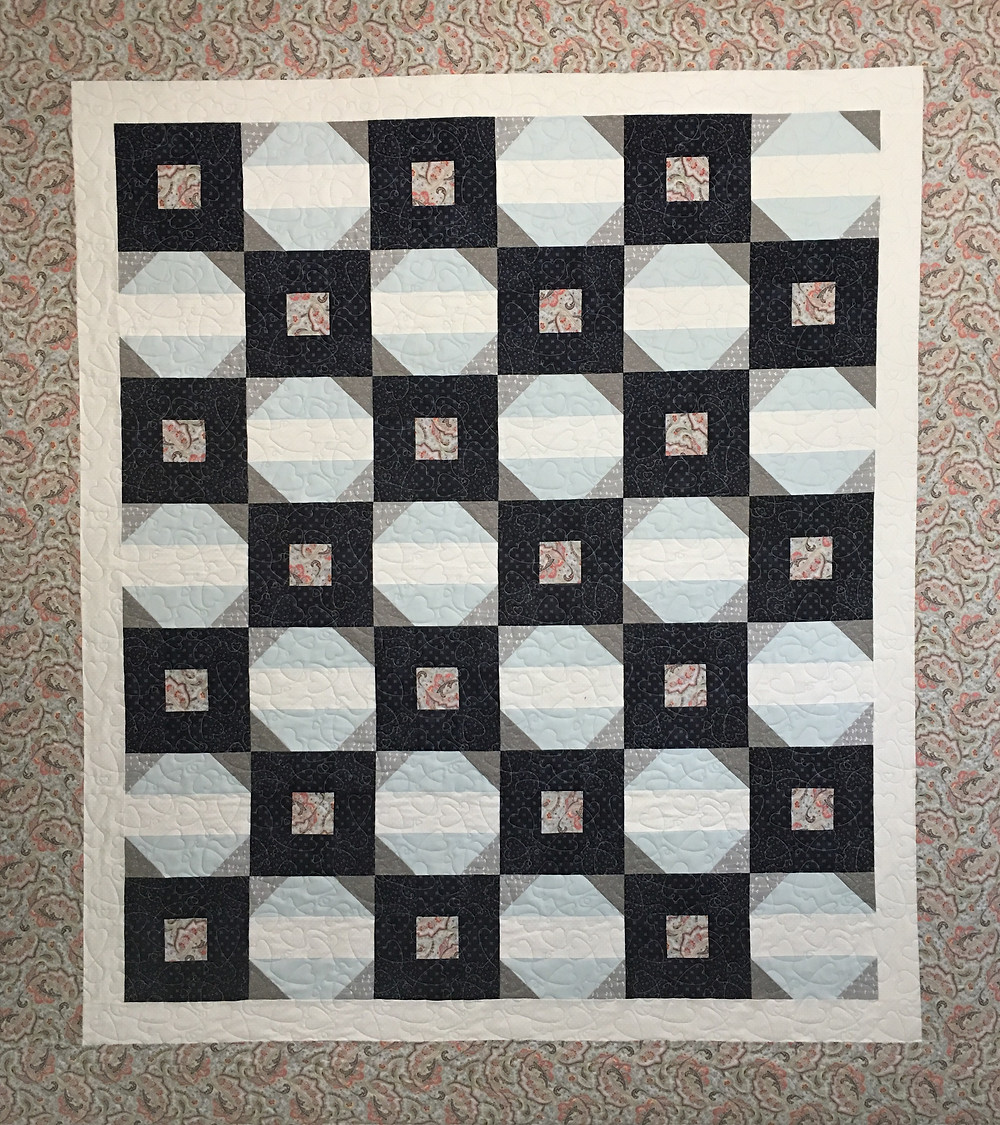 Five Patch and Snowball Quilt by Jennifer Eaton