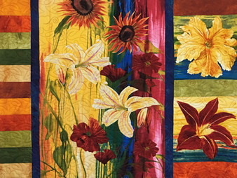 Beth Robertson Tropical Flowers Quilt
