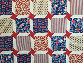Jocelyn Robinson Its all about the Chicago Cubs Quilt