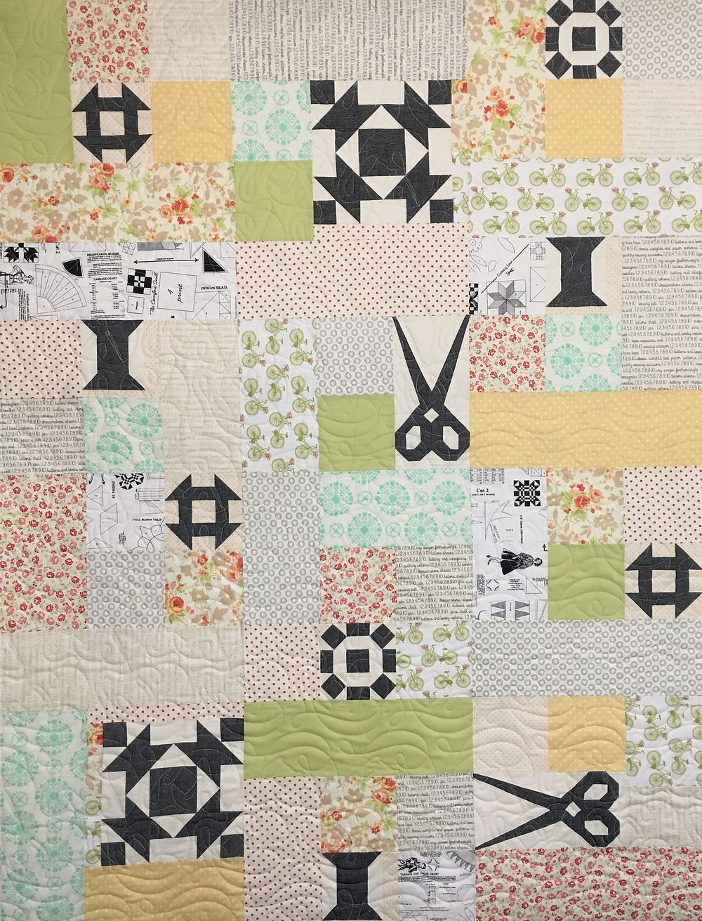 Quilters Quilting Quilt by Deb Taylor
