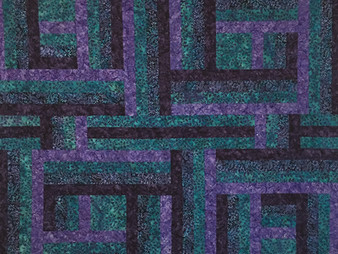 Nancy Nesbaum Purple and Green Batiks Quilt
